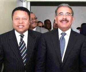 foto Presidente Danilo Medina y Monchi Rodríguez
